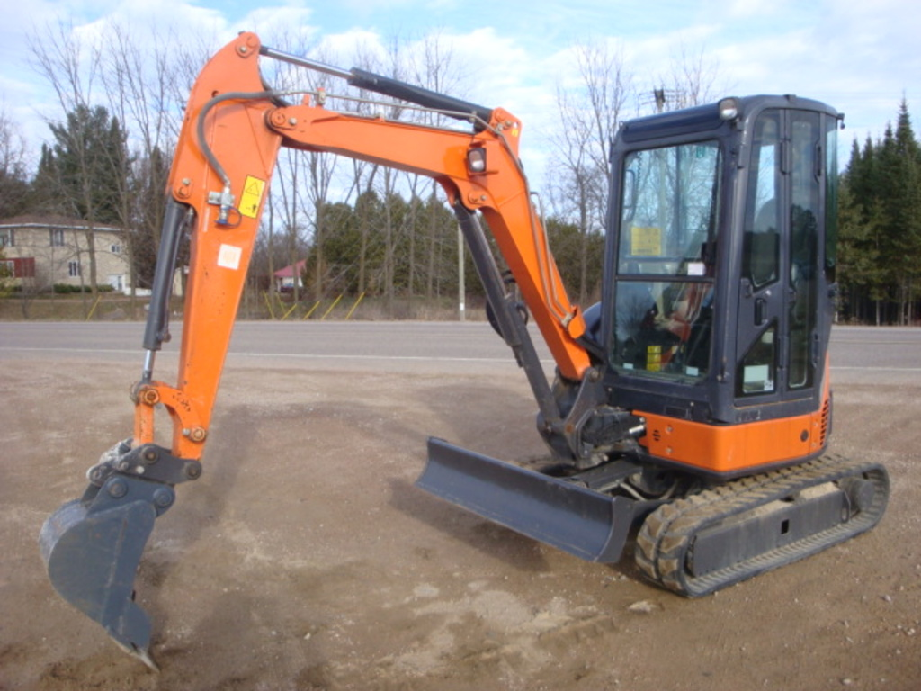 USED 2012 HITACHI ZX29U-3CLR MINI EXCAVATOR EQUIPMENT #1875