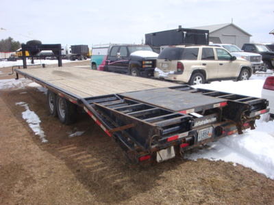USED 2015 DELTA MFG INC 38' GOOSENECK TRAILER #1989-3