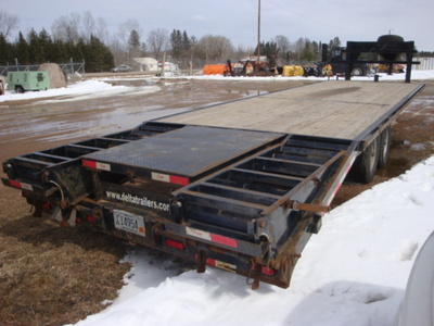 USED 2015 DELTA MFG INC 38' GOOSENECK TRAILER #1989-4
