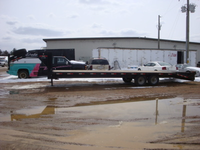 USED 2015 DELTA MFG INC 38' GOOSENECK TRAILER #1989-5