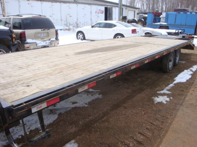 USED 2015 DELTA MFG INC 38' GOOSENECK TRAILER #1989-8