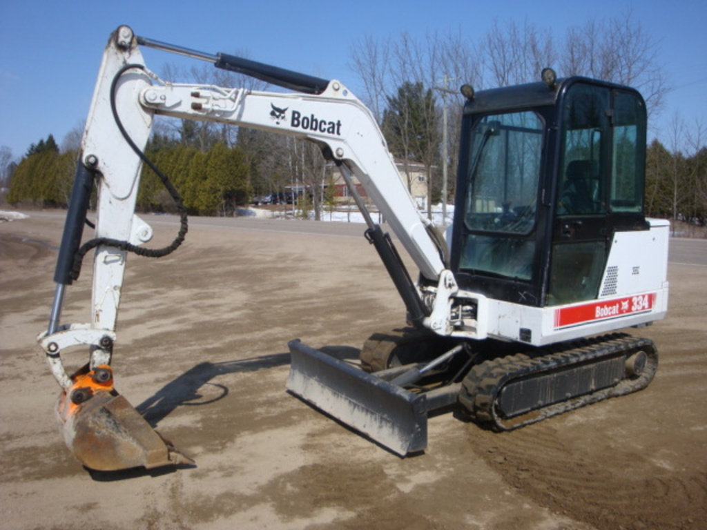 USED 1999 BOBCAT 334 MINI EXCAVATOR EQUIPMENT #1991