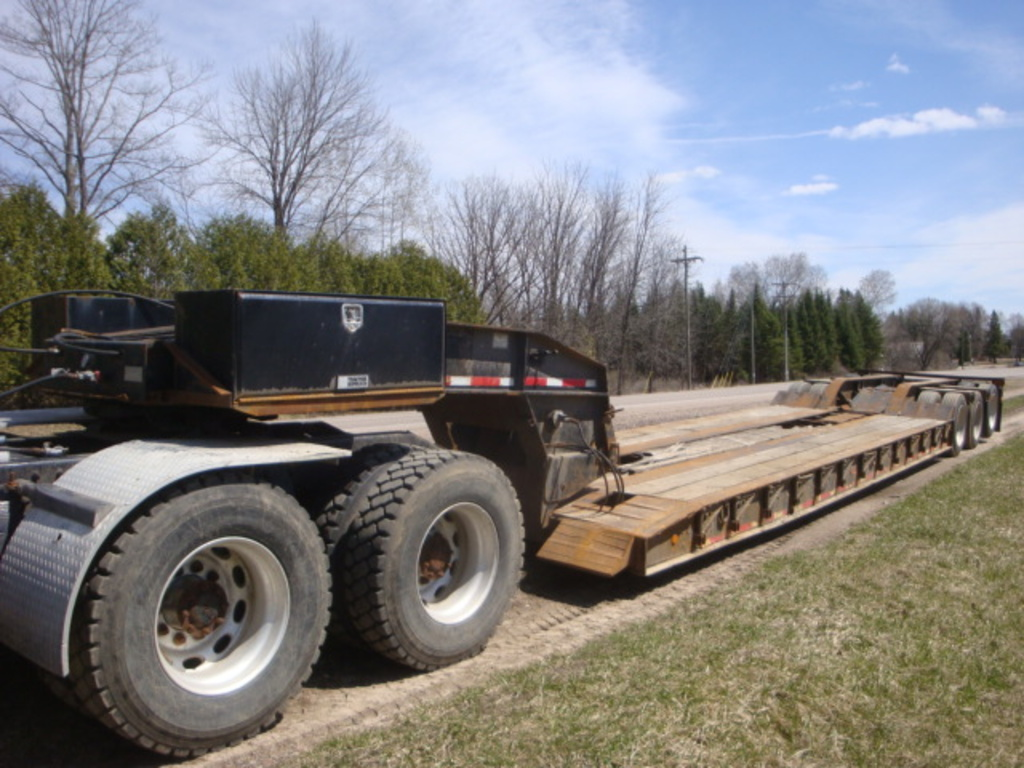 USED 1999 ROGERS LOWBOY TRAILER #2272