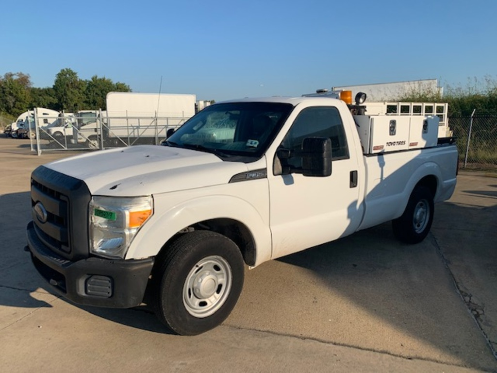 USED 2012 FORD F350 SERVICE TRUCK 2WD 1 TON PICKUP TRUCK #18007