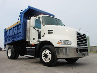 USED 2009 MACK PINNACLE CXU612 S/A STEEL DUMP TRUCK #2502-2