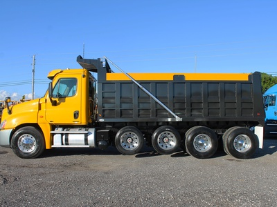 USED 2011 FREIGHTLINER CASCADIA QUAD AXLE STEEL DUMP TRUCK #2646-5