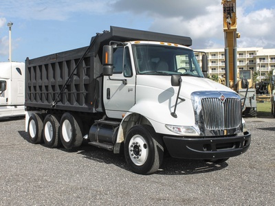 USED 2006 INTERNATIONAL TRANSTAR 8600 TRI-AXLE STEEL DUMP TRUCK #2788