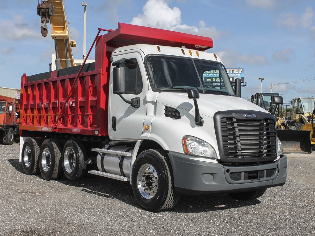 Freightliner Dump Trucks For Sale Fuel Filter 04 14 0l Frieghtliner Used 2013 Cascadia Tri Axle Steel Truck 125268