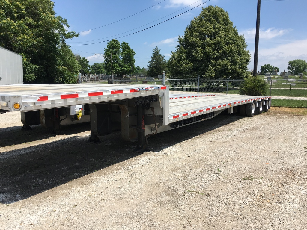 USED 2008 REITNOUER BIG BUBBA DROP DECK TRAILER #1020