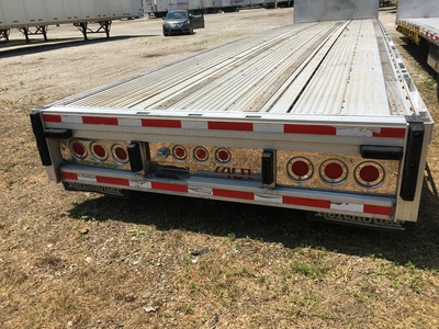 USED 2008 REITNOUER BIG BUBBA DROP DECK TRAILER #1020-2