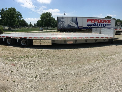 USED 2008 REITNOUER BIG BUBBA DROP DECK TRAILER #1020-3