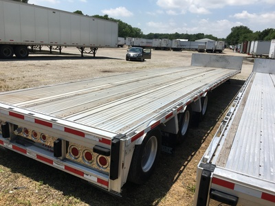USED 2008 REITNOUER BIG BUBBA DROP DECK TRAILER #1020-8