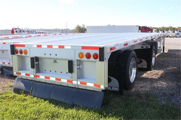 NEW 2017 TRAIL KING TK80AACF FLATBED TRAILER #2458