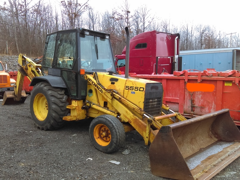 Ford 555d Backhoe Parts : Used ford new holland d for sale