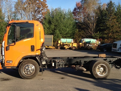 USED 2007 ISUZU W4 CAB CHASSIS TRUCK #1632-1