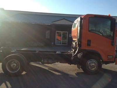 USED 2007 ISUZU W4 CAB CHASSIS TRUCK #1632-4