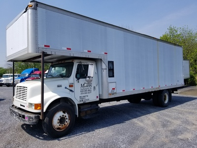 USED 2000 INTERNATIONAL 4900 MOVING TRUCK #8854-2