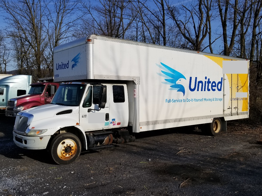 USED 2006 INTERNATIONAL 4300 MOVING TRUCK #9123