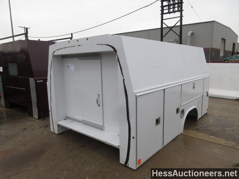 Used White Service Body Service Utility Body For Sale In