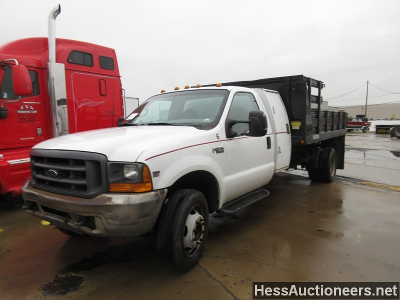 used 1999 ford f450 flatbed truck for sale in pa 23886. Black Bedroom Furniture Sets. Home Design Ideas