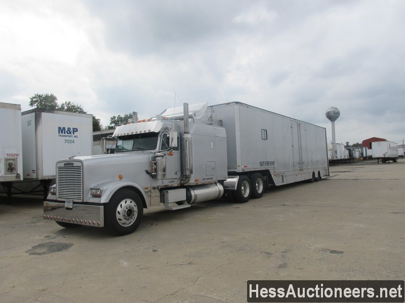 USED 1999 FREIGHTLINER CLASSIC WITH TRAILER TANDEM AXLE SLEEPER TRUCK #599589
