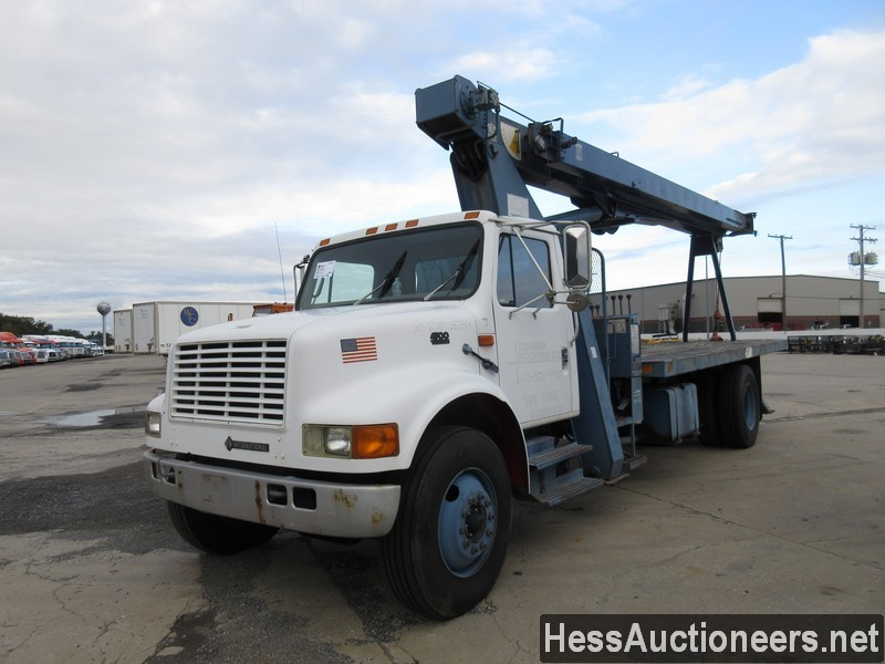 USED 1996 INTERNATIONAL 4700 CRANE TRUCK TRAILER #34387-1