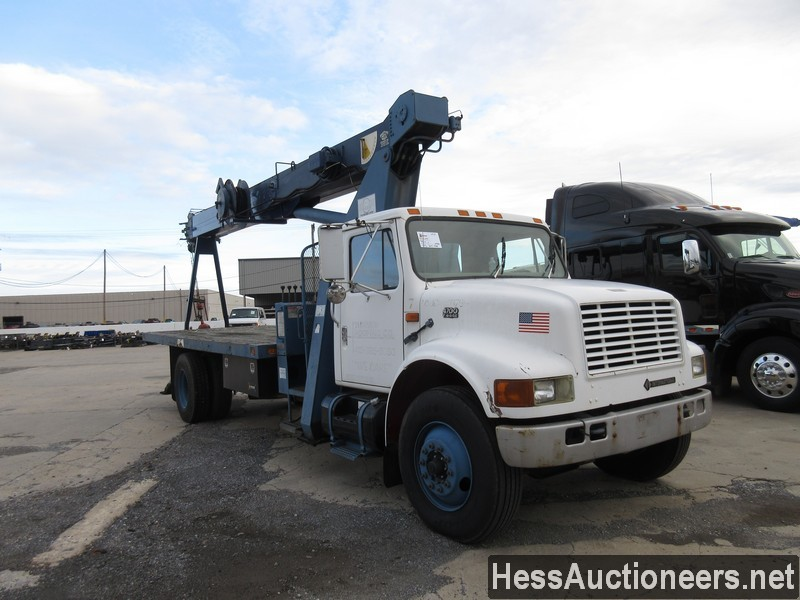 USED 1996 INTERNATIONAL 4700 CRANE TRUCK TRAILER #34387-2