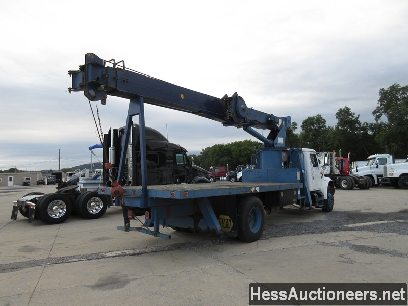 USED 1996 INTERNATIONAL 4700 CRANE TRUCK TRAILER #34387-3