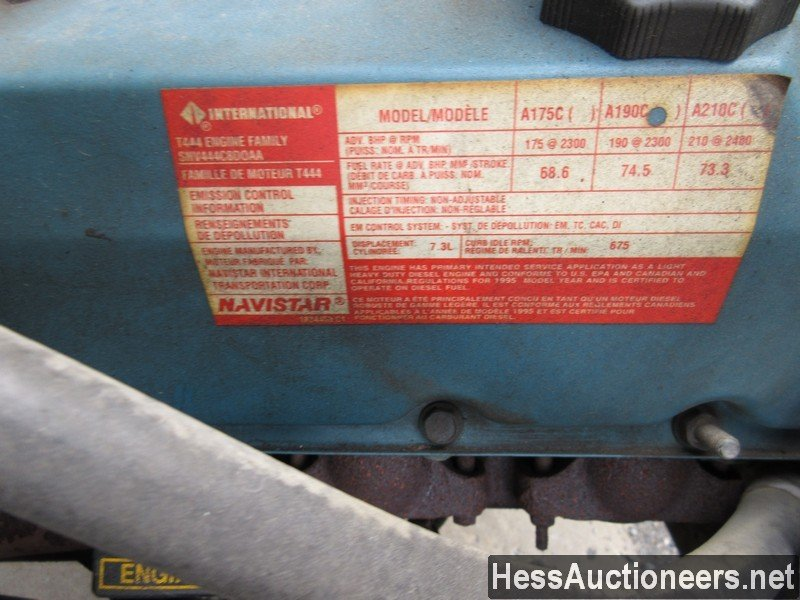 USED 1996 INTERNATIONAL 4700 CRANE TRUCK TRAILER #34387-6