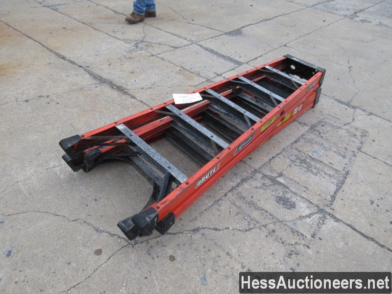 USED 2 FIBERGLASS LADDER EQUIPMENT #35392
