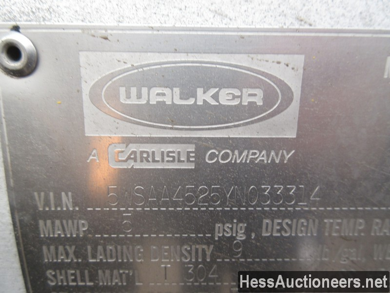 USED 2000 WALKER . TANK TRAILER #36173-5