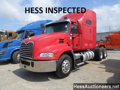 USED 2013 MACK CXU613 TANDEM AXLE SLEEPER TRAILER #38508