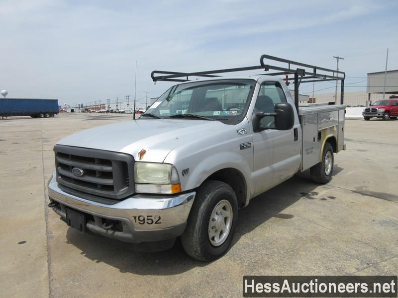 USED 2002 FORD F250 UTILITY BODY SERVICE - UTILITY TRUCK TRAILER #44499