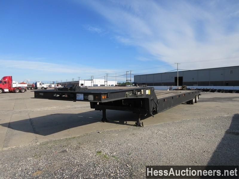 USED 2009 TRAIL-EZE TE801 DROP DECK TRAILER #44574