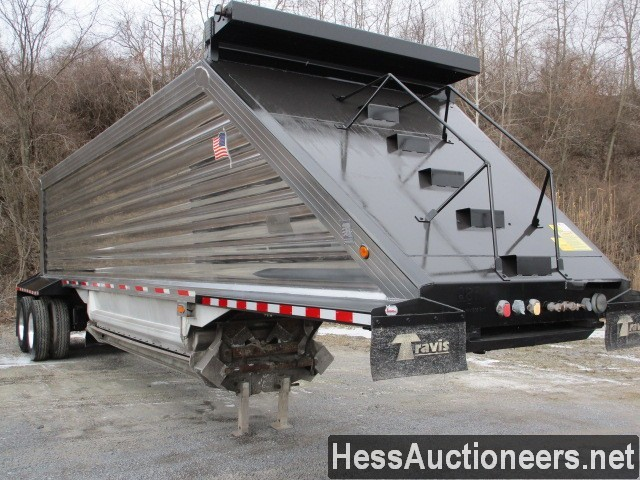 USED 2013 TRAVIS 39' BOTTOM DUMP TRAILER #49670-5