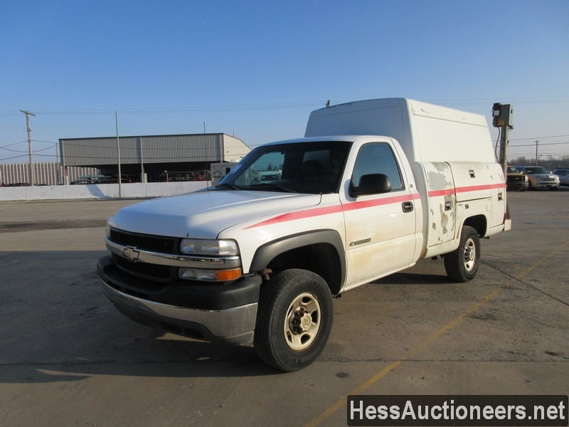 USED 2002 CHEVROLET 2500 SERVICE - UTILITY TRUCK TRAILER #49677
