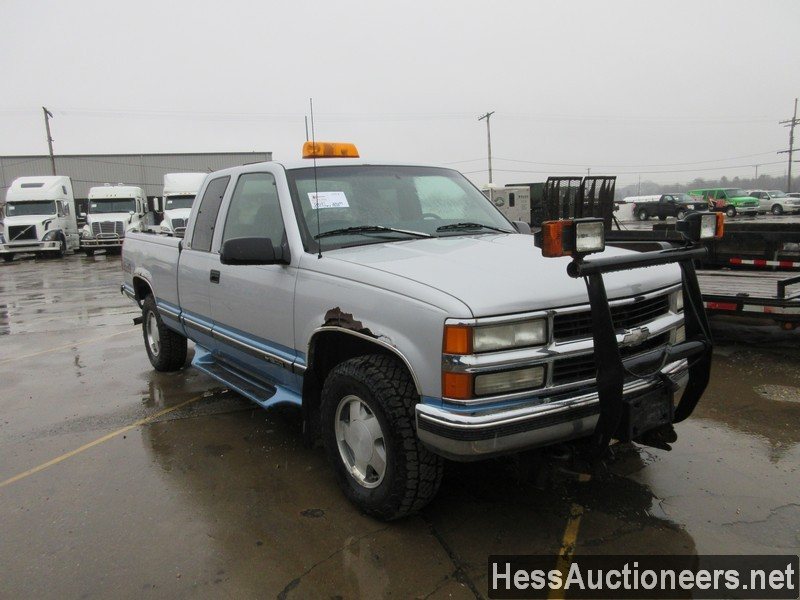 USED 1997 CHEVROLET 1500 4WD 1/2 TON PICKUP TRUCK TRAILER #50037-2