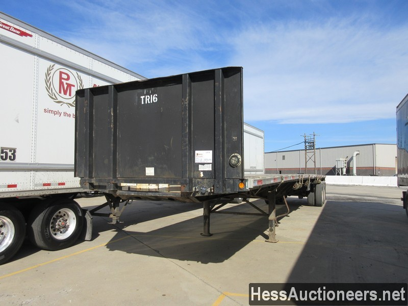 USED 2000 FONTAINE 53' FLATBED TRAILER #50118