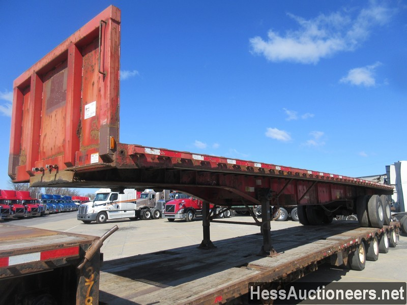 USED 2005 TRANSCRAFT SF-650E FLATBED TRAILER #50340