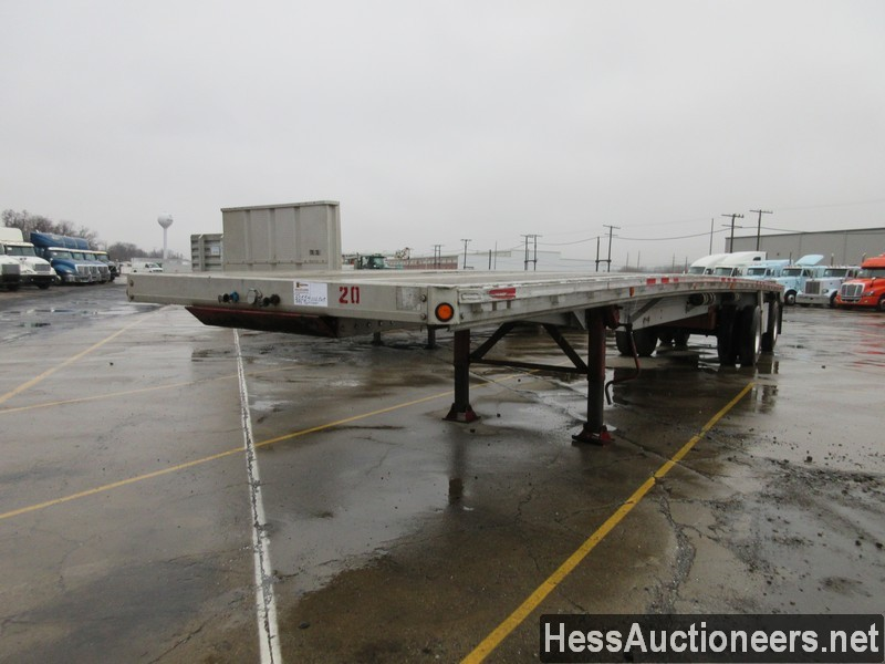 USED 1996 REITNOUER 50' FLATBED TRAILER #50554