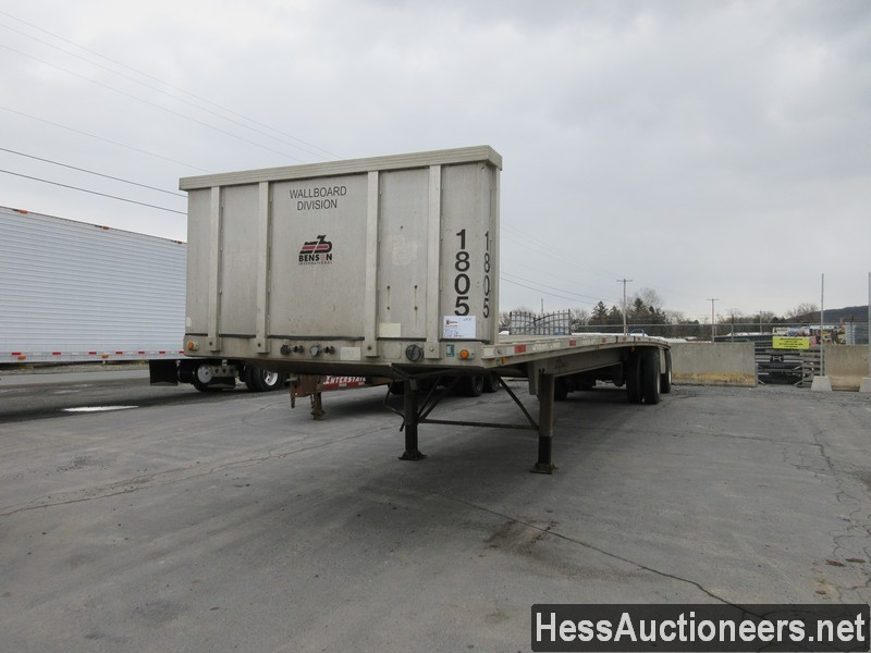USED 2000 BENSON . FLATBED TRAILER #50576