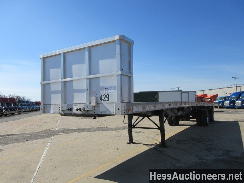 USED 1994 WILSON 45' FLATBED TRAILER #50683