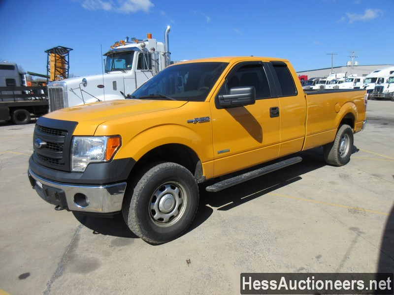USED 2013 FORD F150 EXT CAB 4WD 1/2 TON PICKUP TRUCK TRAILER #50704