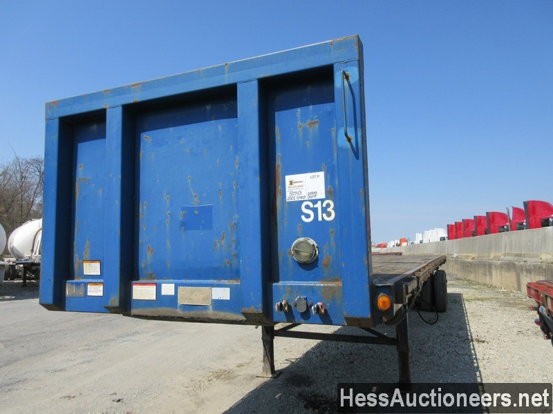 USED 2002 GREAT DANE EXTENSION FLATBED TRAILER #50743