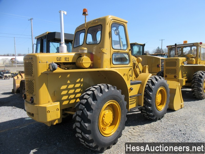 USED 1960 CAT 922 WHEEL LOADER EQUIPMENT #51075-3