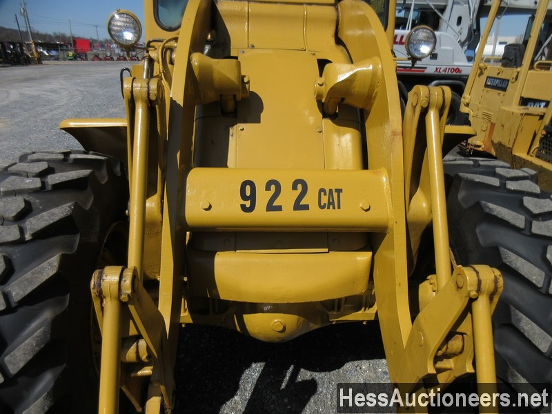 USED 1960 CAT 922 WHEEL LOADER EQUIPMENT #51075-8