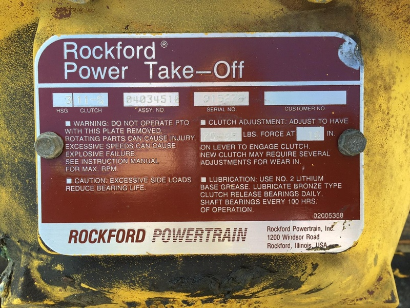 Rockford Power Take Off Clutch : Used john deere engine for sale