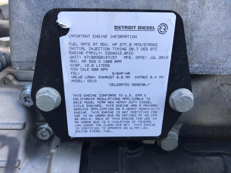 2012 USED DETROIT DD13 ENGINE FOR SALE | #1414