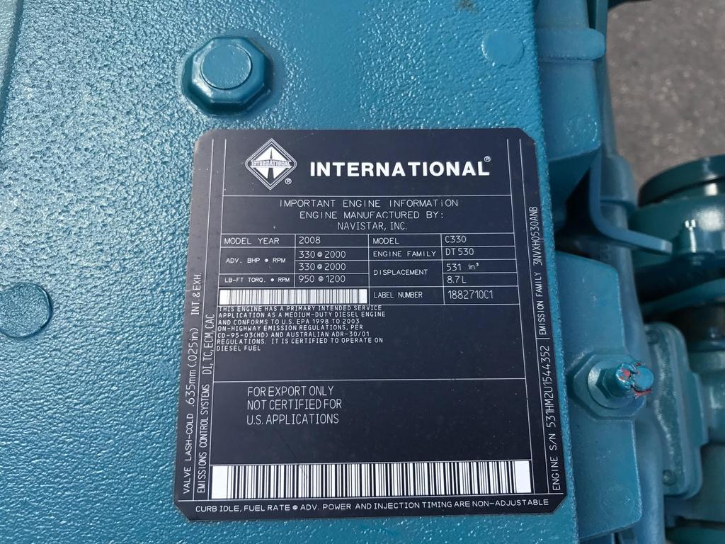 International dt530 engine Manual