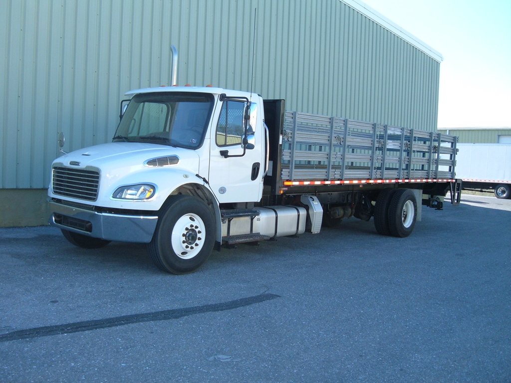 USED 2017 FREIGHTLINER M2 STAKE BODY TRUCK #1125